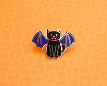 Bat Cat - Enamel Pin - Halloween