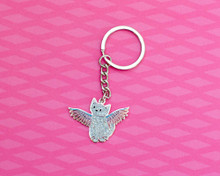 Glittery Angel Enamel Key Ring