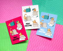 Cats and Boxes - Christmas Cards - 6 Pack