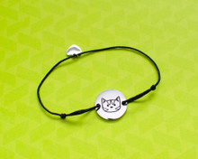 Stainless Steel Cat Head Bracelet