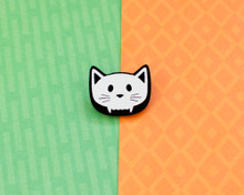 Skull Cat - Acrylic Pin