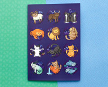 Zodiac Cats Birthday Book