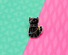 Cat in the Christmas Lights - Enamel Pin - Christmas