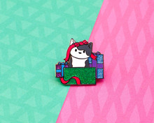 Cat in the Christmas Presents - Enamel Pin - Christmas