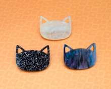 Cat Head Hair Clip - French Barrette