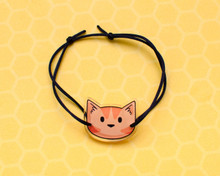 Printed Ginger Cat Head Bracelet