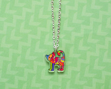 Patchwork Cat Necklace