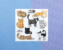 Relaxed Kitty Cats Sticker Sheet