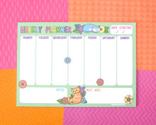 Spring Cats Weekly Planner - Desk pad - Notepad
