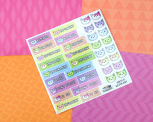 Spring Cats Planner Sticker Sheet