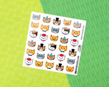 Cats in Hats (and more) Sticker Sheet