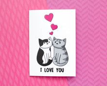 I Love You - Greetings Card - Valentine's Day
