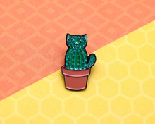 Cat Cactus Catcus - Enamel Pin