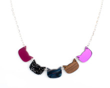 Cat Heads Necklace - Purple