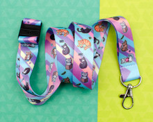 PastelCats - Lanyard  - with Safety Clip