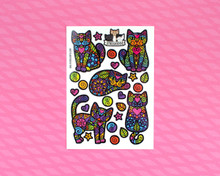 Super Doodley Cats Temporary Tattoos