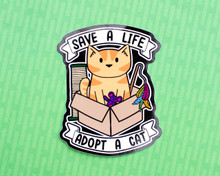 Save A Live, Adopt A Cat - Vinyl sticker