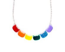 Cat Heads Necklace - Rainbow