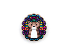 Tabby Cat - Doodley - Wooden Pin