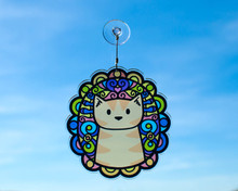 Ginger Tabby Cat Colourful Hanging Window Decoration - Sun Catcher