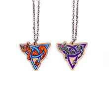 Cat Triquetra Necklace - Black or Orange Cat