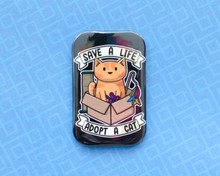 Save A Life, Adopt a Cat - Fridge Magnet