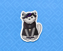 Goth Cat Magnet