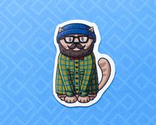 Hipster Cat Magnet