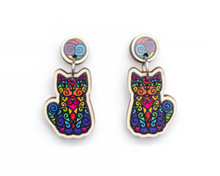 Rainbow Cat Earrings
