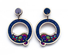 Circle Cat Earrings