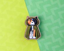 Druid Cat - Wooden Pin