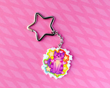 Star Cat - Acrylic Keyring - Recycled
