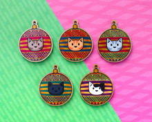 Glitter Bauble  Christmas Cat Decorations