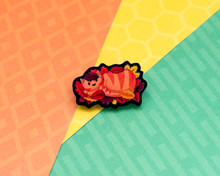 Leafy Cat - Autumnal Acrylic Pin