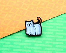 Ghost Cat -Halloween Acrylic Pin