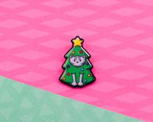 Christmas Tree Cat - Christmas Acrylic Pin