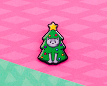 Christmas Tree Cat - Christmas Acrylic Pin