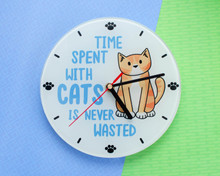 Cat Clock - Time Spent With Cats Is Never Wasted