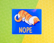 NOPE - Vinyl cat sticker