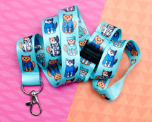 Medical Cats - Lanyard  - with Double Safety Clip