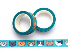 Cat Heads Washi Tape