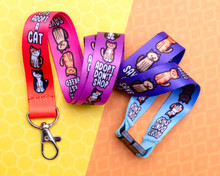 Adopt Rescue Cats Lanyard - with Safety Clip