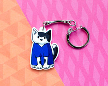 Blue Scrubs - Vet Nurse - Acrylic Keyring - Recycled
