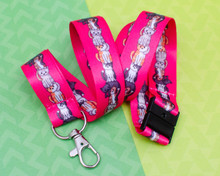 Pink Tower Cats - Lanyard  - with Safety Clip