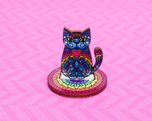 Rainbow Pattern Cat Standee