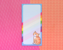 Summer Cat Notepad with optional magnet