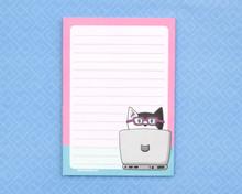 Computer Cat - A6 Notepad