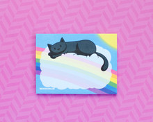 Rainbow Sunshine Kitty Sticky Notes