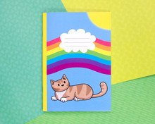 Rainbow Sunshine Cat Notebook - PLAIN