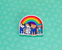 Rainbow Medics - Veterinary Nurse Doctor Surgeon - Acrylic Pin